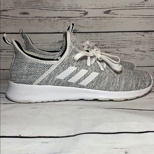 Adidas Cloudfoam Pure size 10 Gray and White